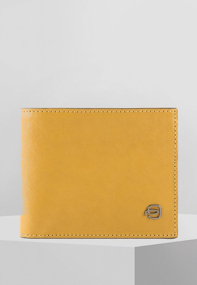 PIQUADRO BLACK SQUARE GELDBÖRSE LEDER 11 CM - Wallet - yellow