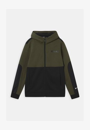 AIR HOODIE - veste en sweat zippée - khaki/black