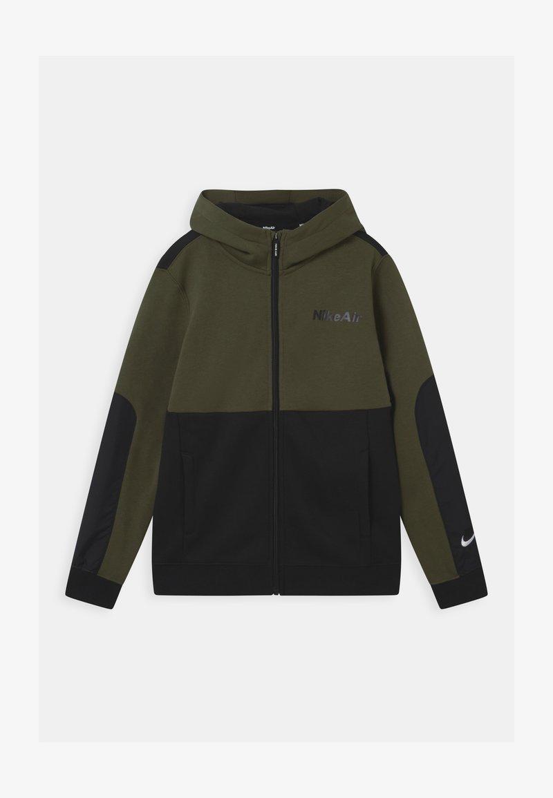 Nike Sportswear - AIR HOODIE - Zip-up hoodie - khaki/black