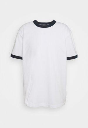 RINGER TEE - Basic T-shirt - white