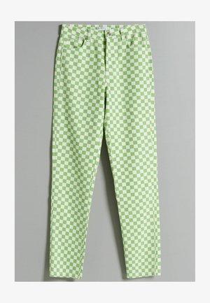 Džíny Straight Fit - green