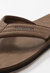 Quiksilver - CARVER - T-bar sandals - tan - 5