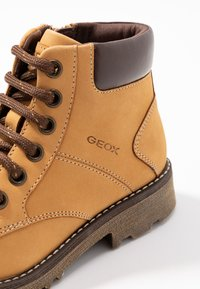 Geox - AXEL BOY - Lace-up ankle boots - dark yellow - 2
