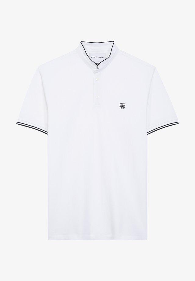 Koszulka polo - white / anthracite blue