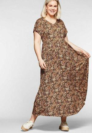 Maxi dress - creme bedruckt