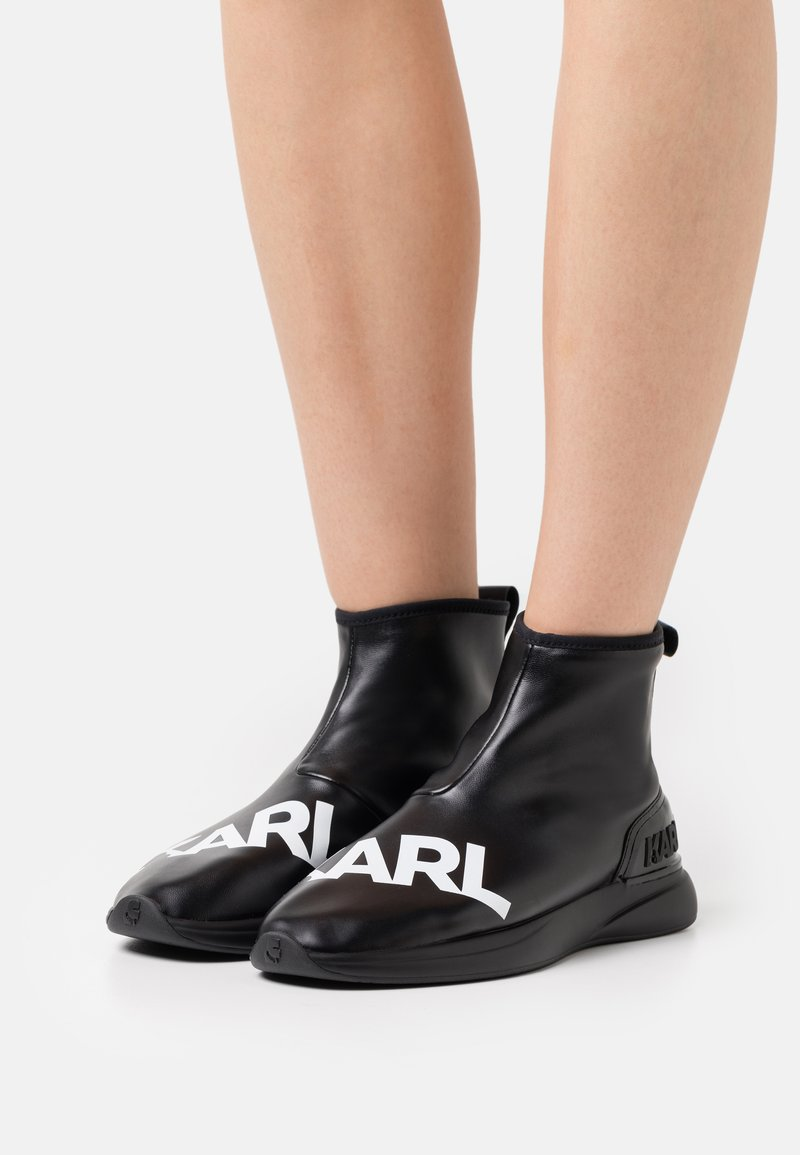 KARL LAGERFELD - FINESSE LEGERE STRETCH - Ankle boots - black