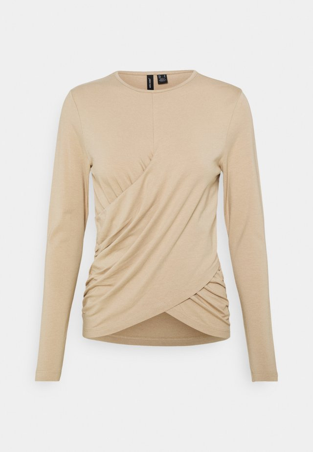 VMPANDA DETAIL - Long sleeved top - beige