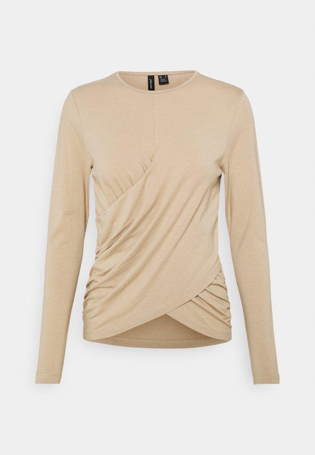 VMPANDA DETAIL - Bluzka z długim rękawem - beige