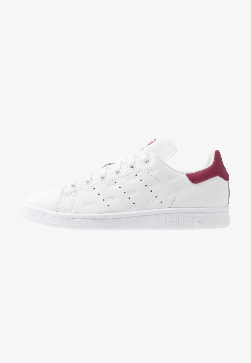 adidas Originals - STAN SMITH - Trainers - footwear white/mystery ruby/maroon