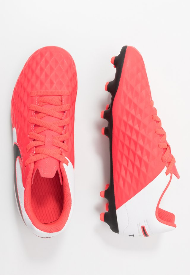 TIEMPO LEGEND 8 CLUB FG/MG UNISEX - Moulded stud football boots - laser crimson/black/white