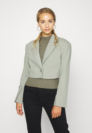 DOMINIQUE SHORT - Blazer - khaki green