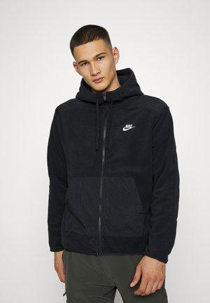WINTER - Fleecová bunda - black/white