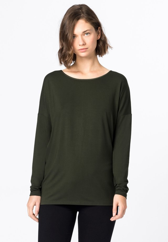 T-shirt à manches longues - olijfgroen