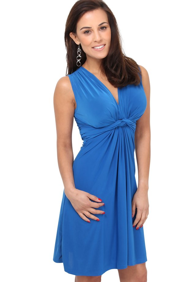 KNOT FRONT SELF - Cocktail dress / Party dress - royal blue