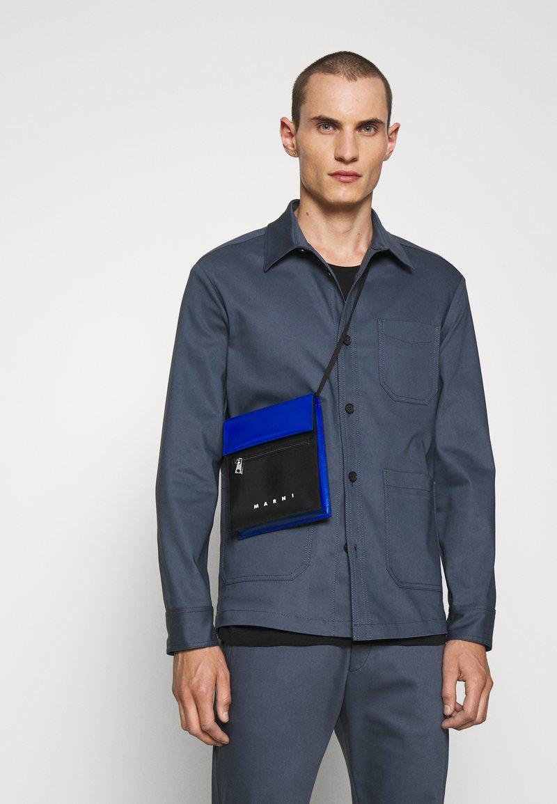 Marni - TRIBECA POUCH UNISEX - Across body bag - black/royal