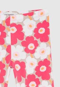Marimekko - LAIRI UNIKKO TROUSERS - Leggings - Trousers - beige/pink/white - 2