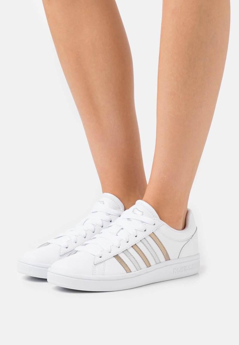 K-SWISS - COURT WINSTON - Sneakers laag - white/silver/gold
