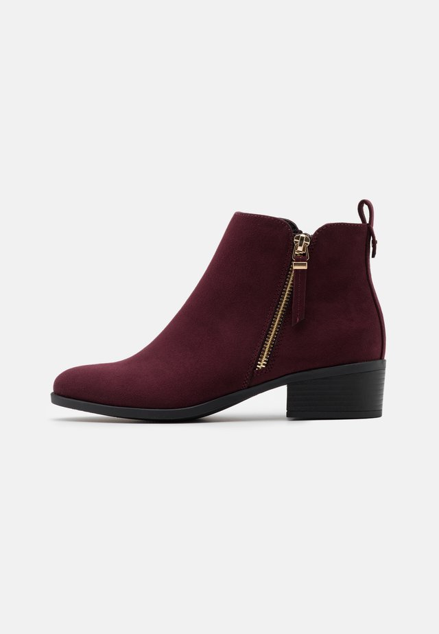 MACRO SIDE ZIP BOOT - Ankle boot - burgundy