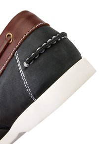 Next - NAVY LEATHER BOAT SHOES - Chaussures bateau - blue - 4