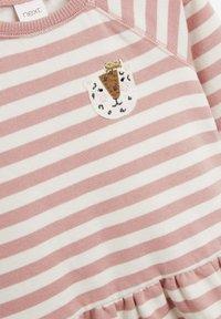 Next - STRIPE CHARACTER SWEAT DRESS (3MTHS-7YRS) - Day dress - pink - 2