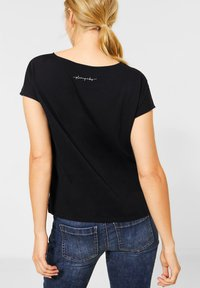 Street One - MIT METALLIC-LOOK - Print T-shirt - schwarz - 2