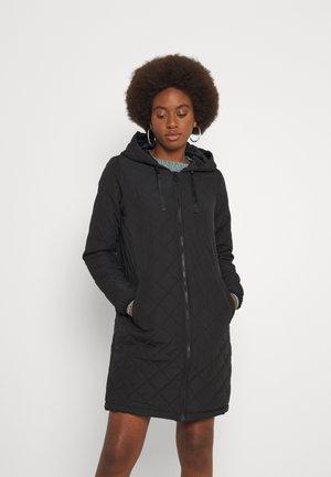ONLSANNE QUILTED LONG JACKET  - Winter coat - black