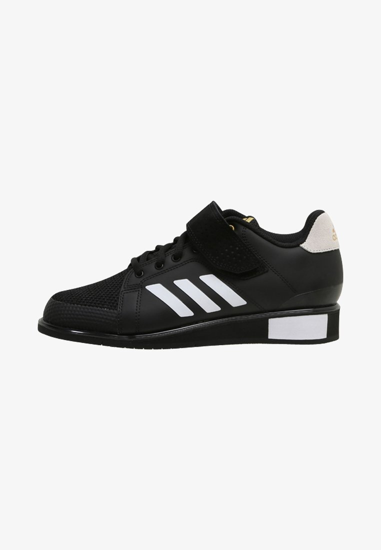 adidas Performance - POWER PERFECT 3 SHOES - Sports shoes - black/white/gold