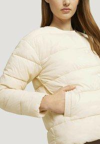 TOM TAILOR DENIM - KRAGENLOSE  - Winter jacket - blazed beige - 3