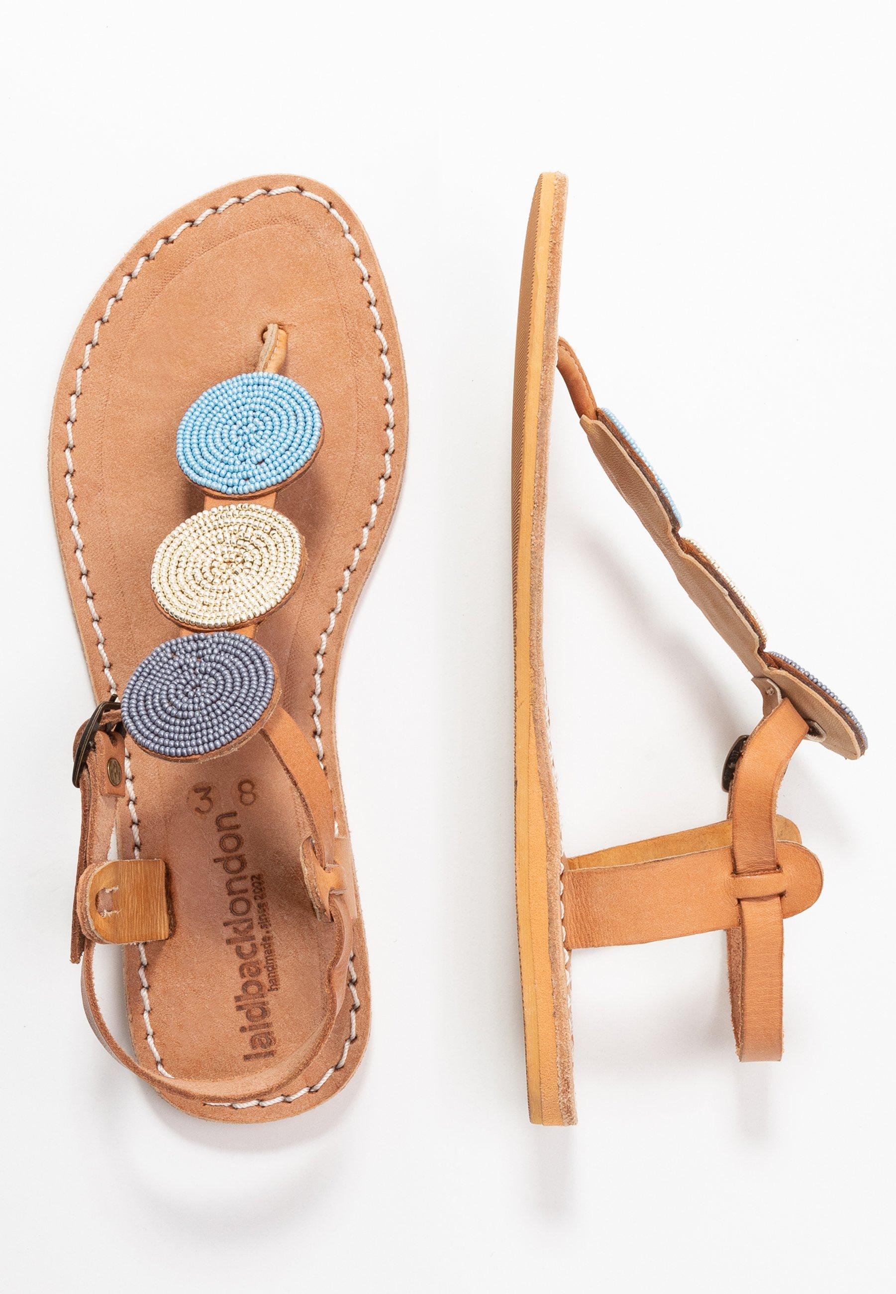 laidbacklondon SIMBA FLAT - Flip Flops - light brown