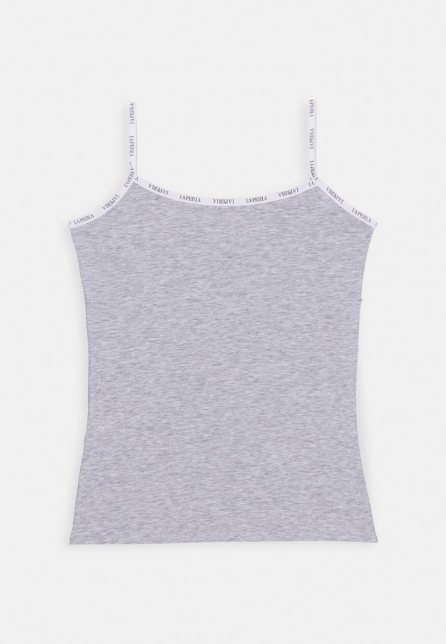LOGO BORDEER - Unterhemd/-shirt - grigio melange