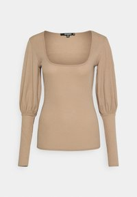 Missguided Tall - PUFF SLEEVE SQUARE NECK MILKMAID - Long sleeved top - macoron - 0