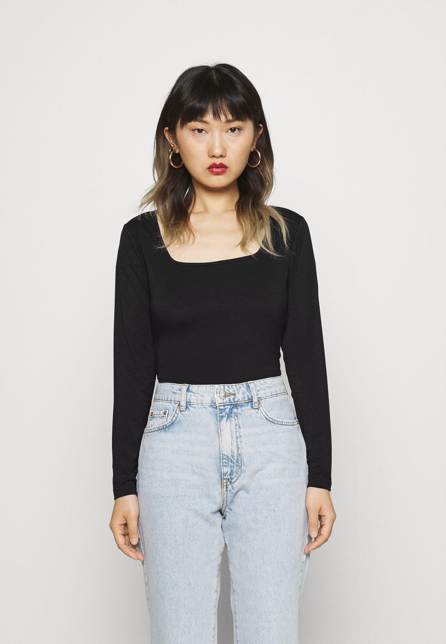 Women SQUARE NECK LONGSLEEVE - Long sleeved top