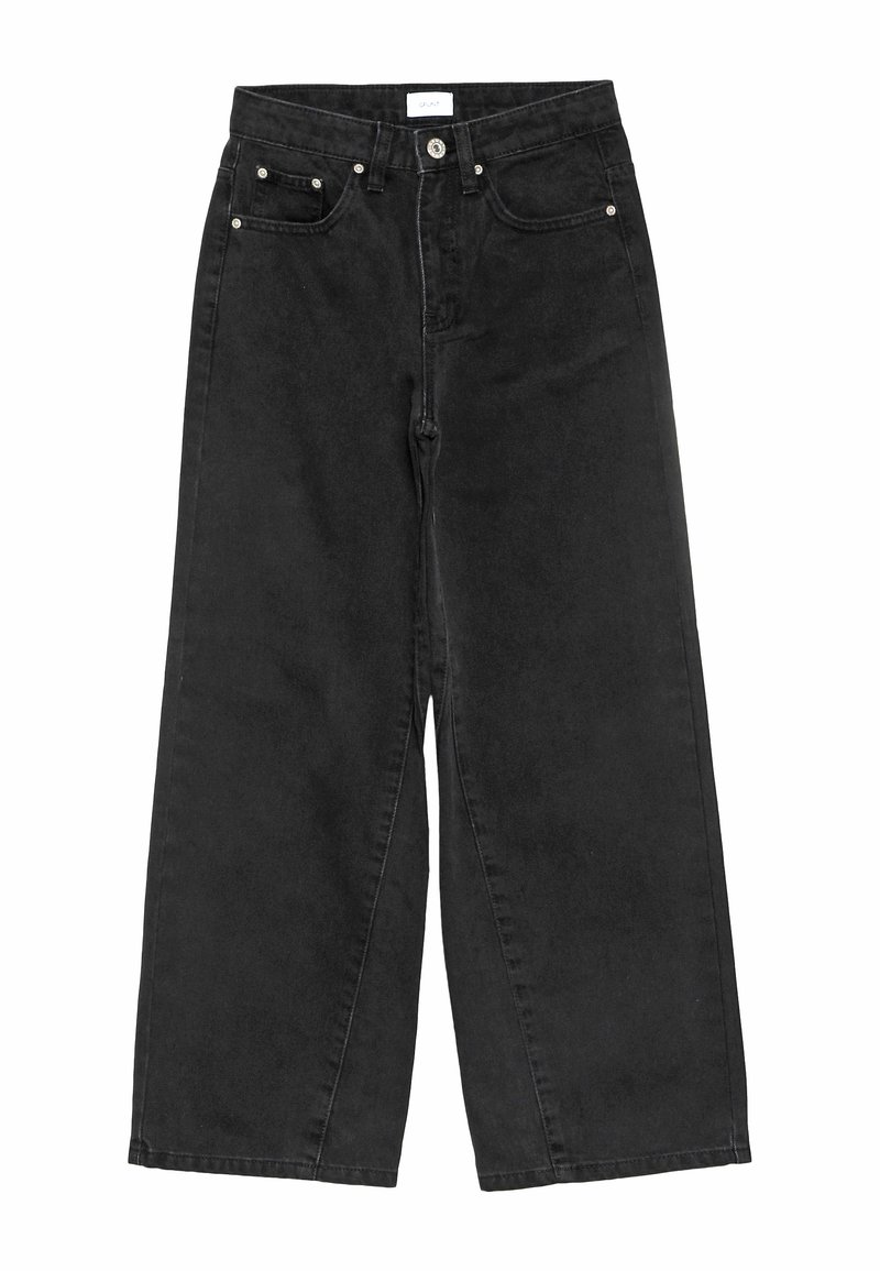 Grunt - WIDE LEG - Relaxed fit jeans - calm black