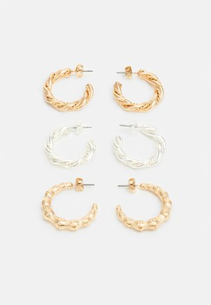 PCVENNA EARRINGS 3 PACK - Earrings - gold-coloured