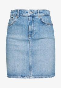 SLFKENNA  - Pencil skirt - light blue denim