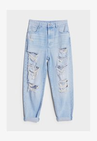 Bershka - MOM MIT RISSEN - Jeans Relaxed Fit - blue - 4