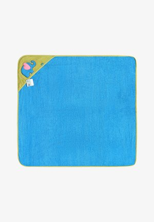 Bath towel - blue/elephant