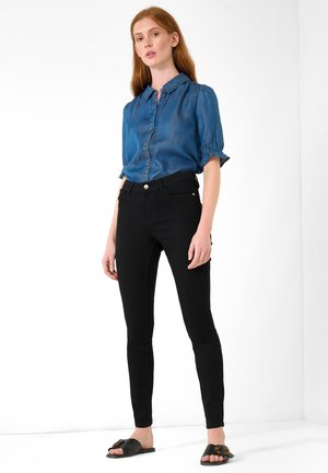 Button-down blouse - dark stoned