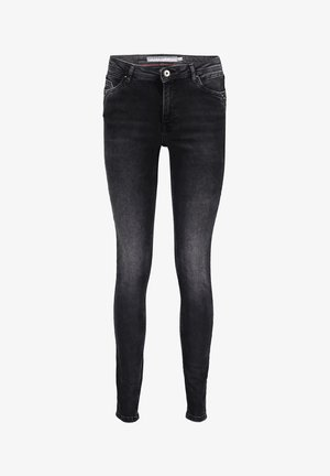 WITH ANTIQUE SILVER STUDS - Jeans Skinny Fit - grey denim