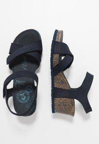 Panama Jack - VIERI BASICS - Sandály na platformě - dunkelblau - 3