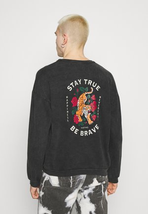 CREW STAY TRUE WASHED - Sweatshirt - black