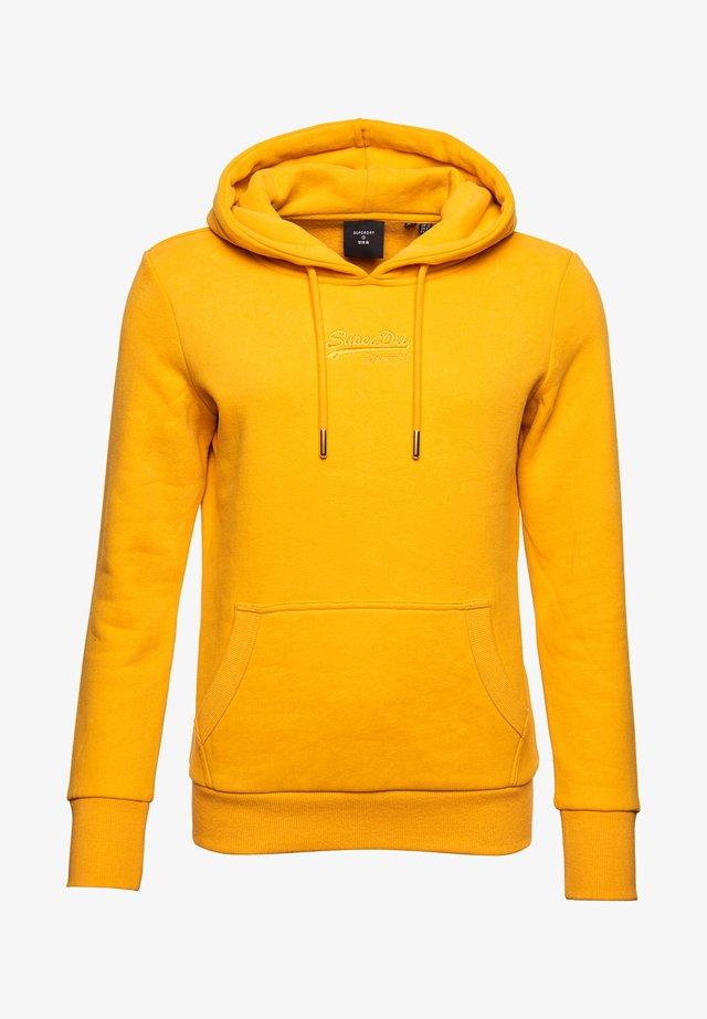 VINTAGE LOGO TONAL EMBROIDERED - Hoodie - upstate gold