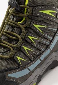 Lurchi - TRISTAN-TEX - Lace-up ankle boots - olive/citroen - 5