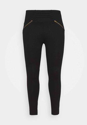ZIP DETAIL SHAPER - Leggings - Trousers - black