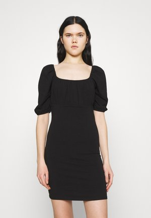 ONLLIVE LOVE 2/4 SHORT DRESS  - Jersey dress - black