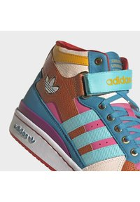adidas Originals - FORUM MID ORIGINALS SNEAKERS SHOES - Zapatillas altas - pulse aqua/pink tint/sonic fuchsia - 7