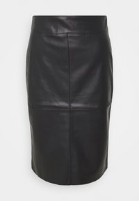 Dorothy Perkins Petite - SEAM DETAIL MIDI SKIRT - Pencil skirt - black - 3