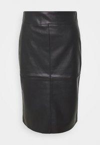 SEAM DETAIL MIDI SKIRT - Pencil skirt - black