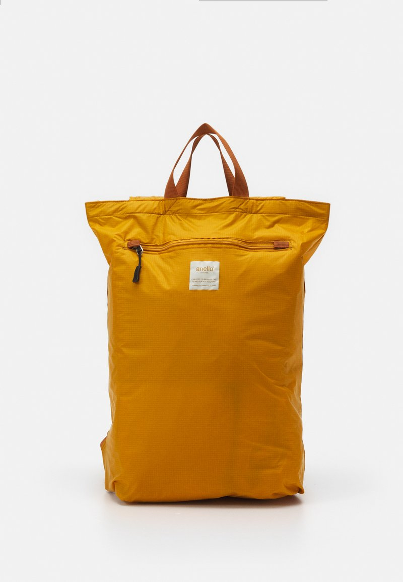 anello - SIMPLE TOTE BACKPACK - Rucksack - mustard
