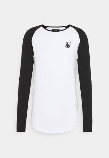 RAGLAN LONG SLEEVE - Maglietta a manica lunga - black/white